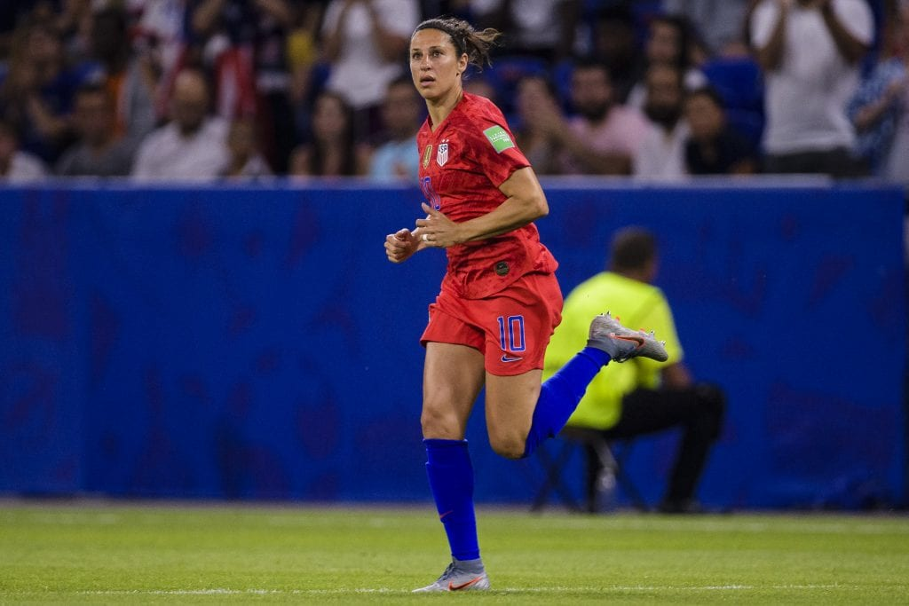 Carli Lloyd of United States runs in the field during the 2019 FIFA Women's World Cup France Semi Final