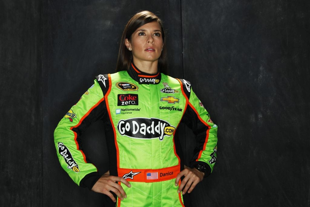 Driver Danica Patrick poses during portraits for the 2013 NASCAR Sprint Cup Series