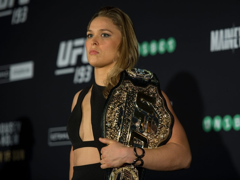 UFC women's bantamweight champion Ronda Rousey of the United States