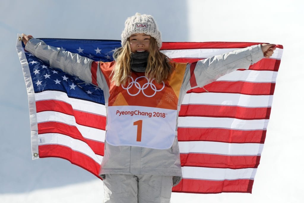Gold medalist Chloe Kim of the United States