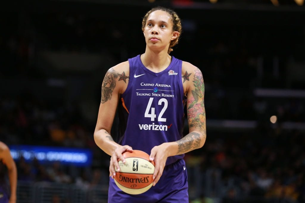 Brittney Griner #42 of the Phoenix Mercury
