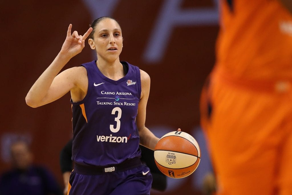 Diana Taurasi #3 of the Phoenix Mercury