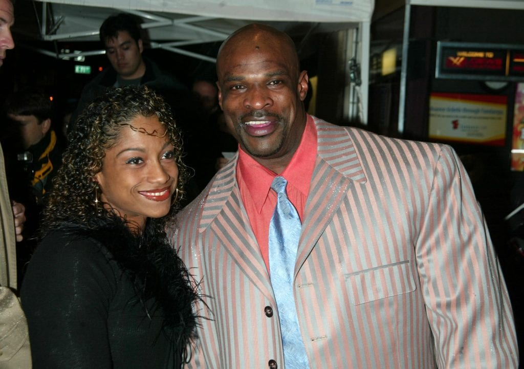 Ronnie Coleman & wife during Pumping Iron The 25th Anniversary New York Premiere at Loews Tower East in New York City, New York, United States.