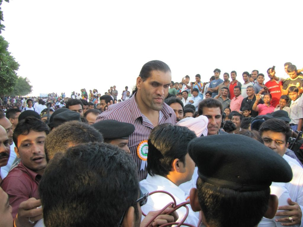 The Great Khal i(Dalip Singh Rana) during peace rally conducted in Mumbai on 20th November, 2011 at 7:30AM