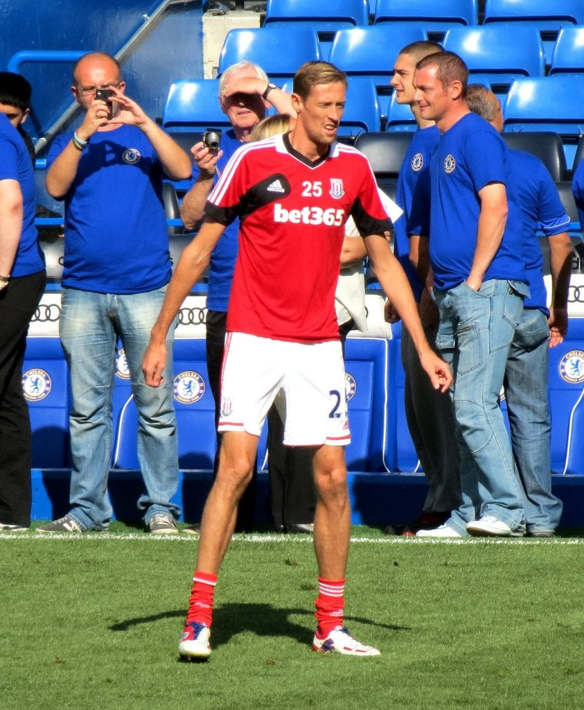 Peter Crouch is one of the largest athletes for his height