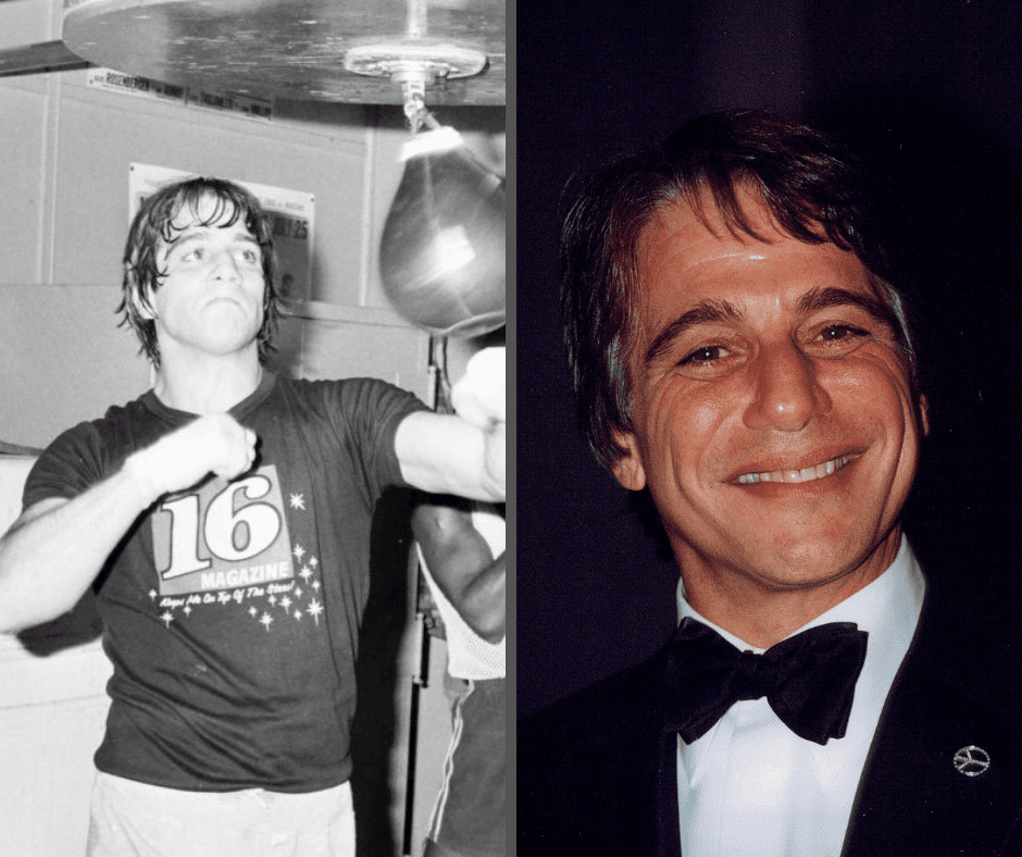 Actors Tony Danza punches the speed bag during a work out at Gramercy Gym on April 20,1979 in New York, New York. (Photo by: The Ring Magazine via Getty Images)