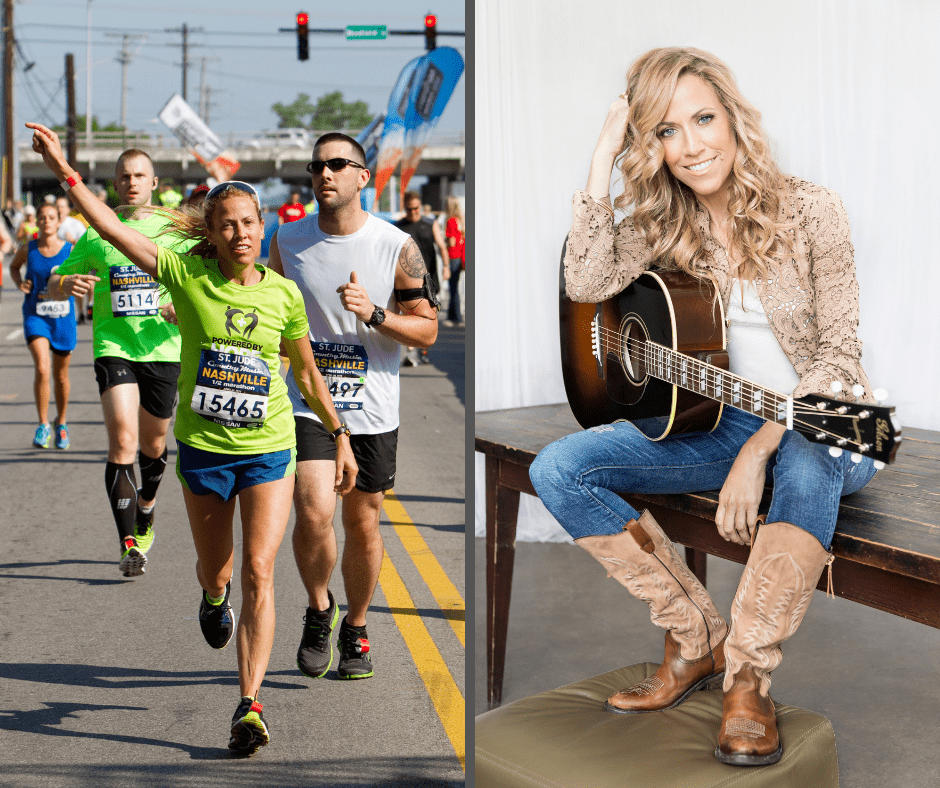 "Sheryl Crow participates in the St. Jude Country Music Marathon & 1/2 Marathon on April 28, 2012 in Nashville, Tennesse. (Photo by Handout/Getty Images via Lester Cacho Competitor Group) | Sheryl Crow portrait studio session at Splashlight Studios on August 23, 2013 in New York City. Her new album ""Feels Like Home"" releases on September 10, 2013. (Photo by Larry Busacca/Getty Images)"