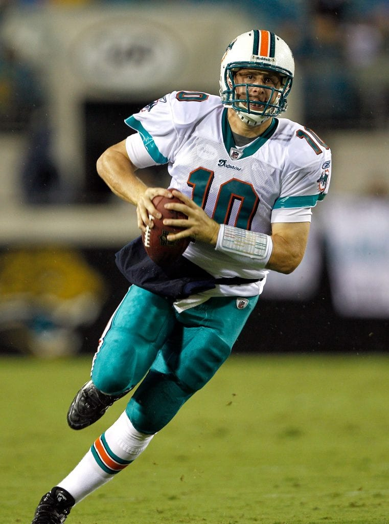 Quarterback Chad Pennington #10 of Miami Dolphins
