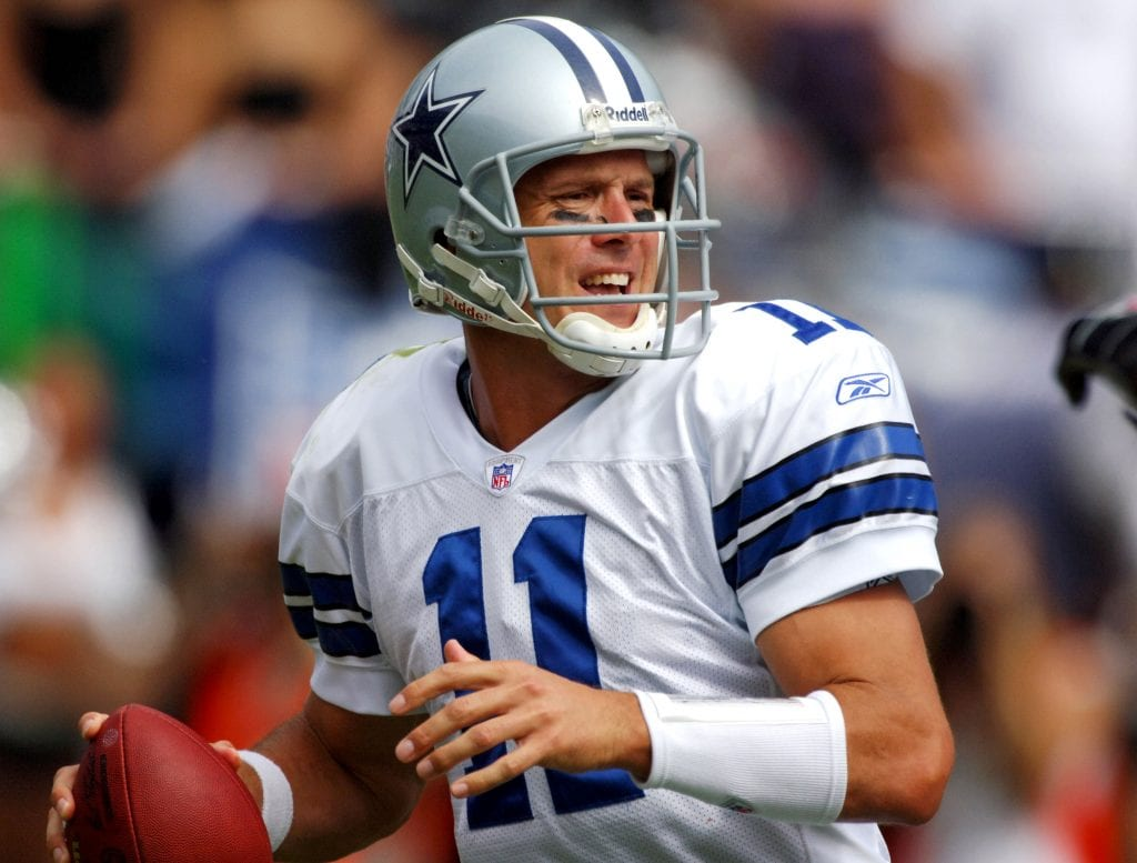 Dallas Cowboys quarterback Drew Bledsoe