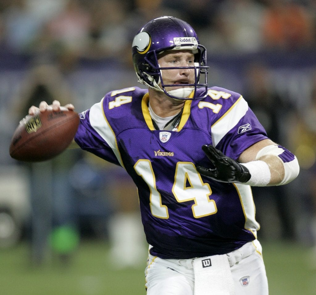 Minnesota Vikings quarterback Brad Johnson
