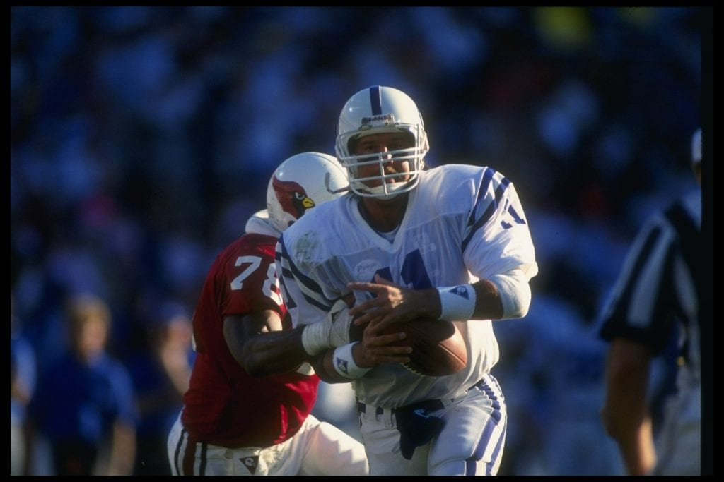 Quarterback Jeff George of the Indianapolis Colts