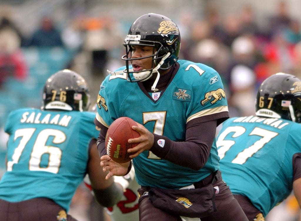 Houston Texans v Jacksonville Jaguars quarterback Byron Leftwich