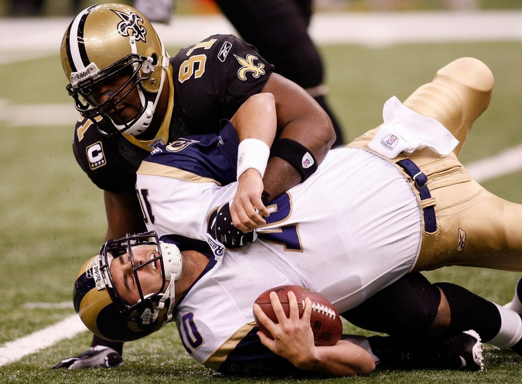 St. Louis Rams quarterback Marc Bulger v New Orleans Saints