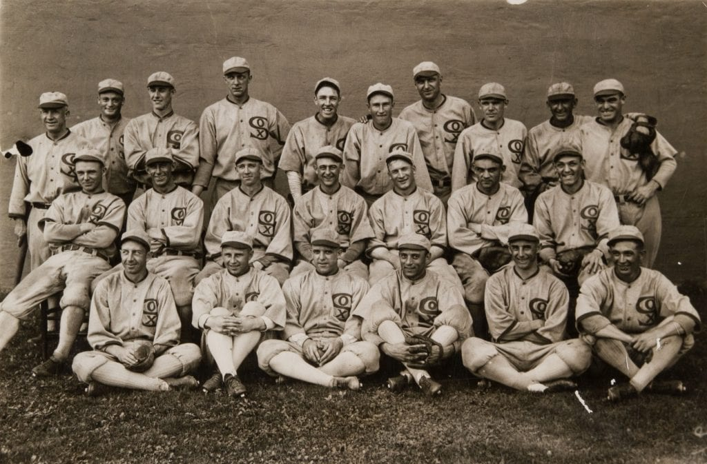 The 1919 Chicago White Sox team reportedly threw the game intentionally for a bribe.
