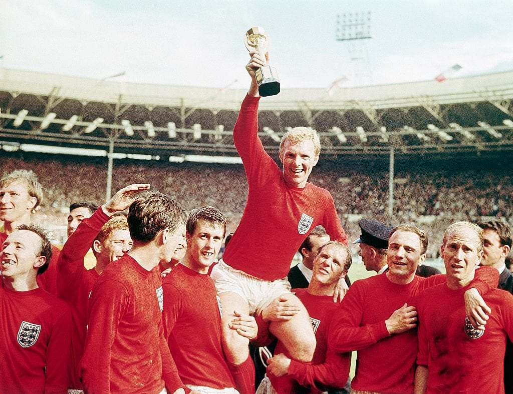 English Team and Bobby Moore After World Cup Victory
