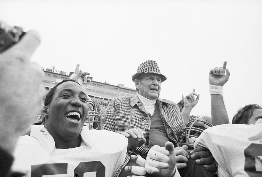Bear Bryant Watching Football Game