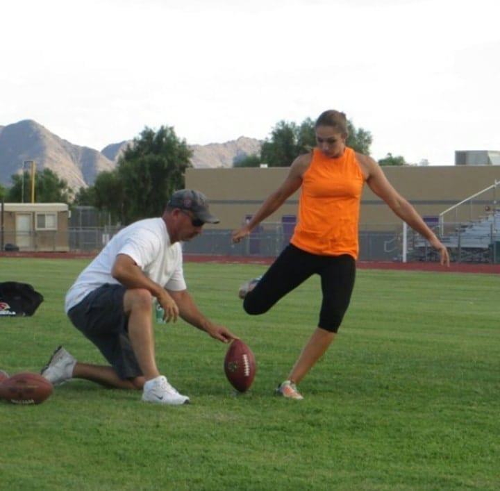 female kicker