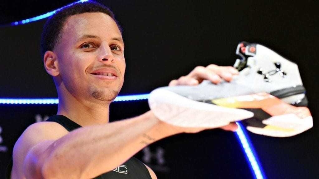 buy popular cde85 2b44e Steph Curry has always been overlooked. The friendly, sharp-shooting point  guard from Golden State, the son of an NBA star, grew up with enormous  shoes to ...