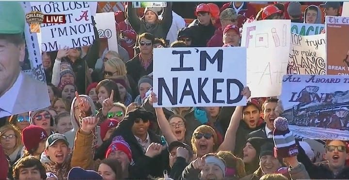 funny college gameday sign
