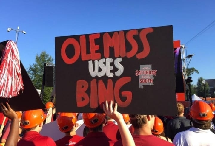 ole miss college football sign