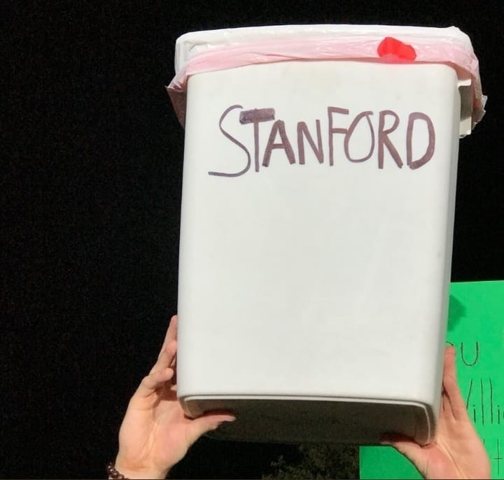 stanford football funny sign