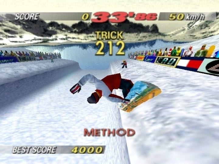 1080 snowboarding video game