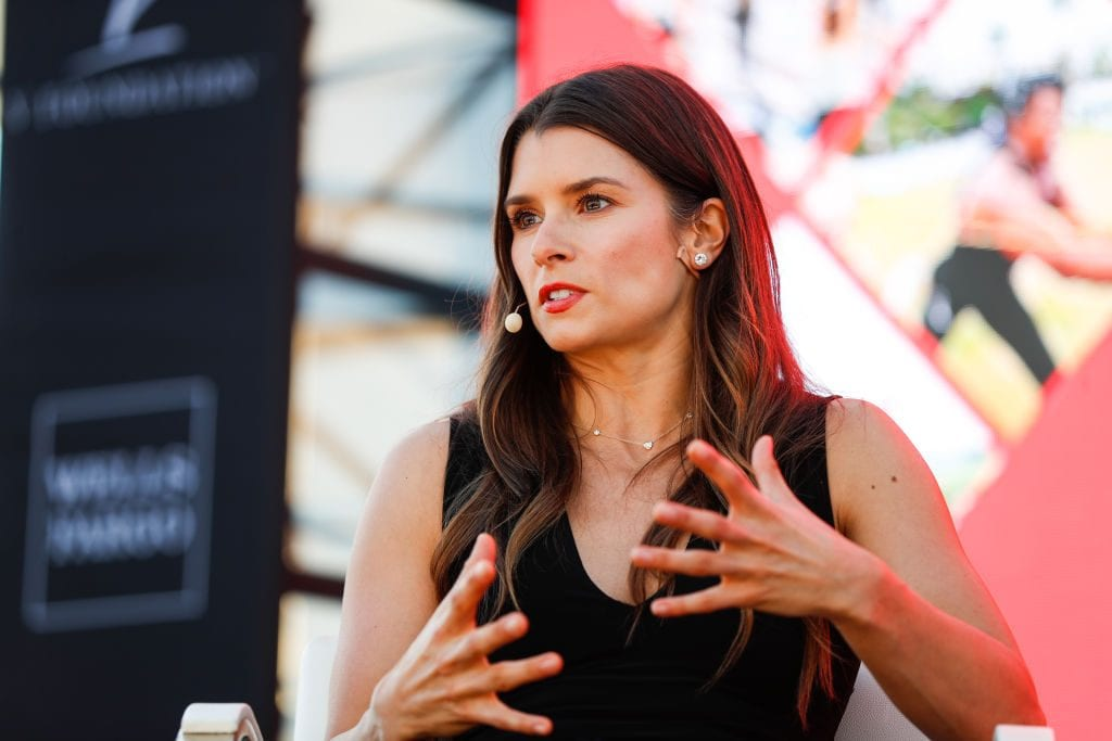 Danica Patrick and director Hannah Storm present at the espnW Summit