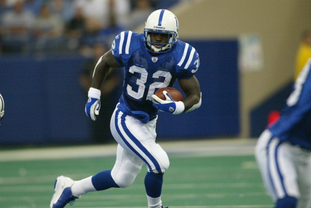 Edgerrin James #32 of the Indianapolis Colts