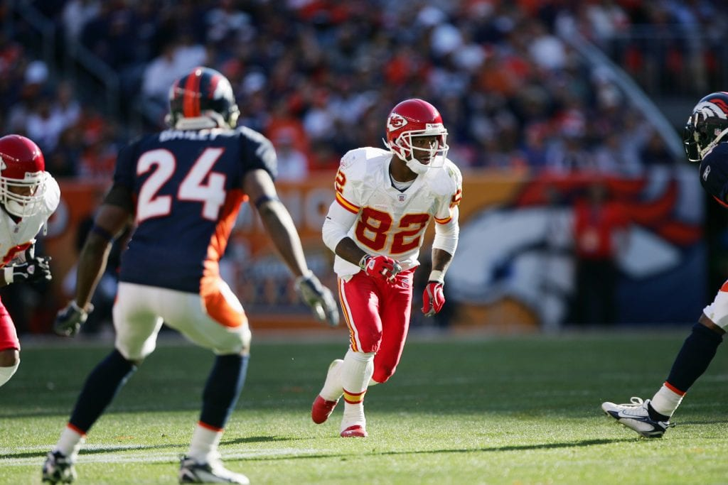 Wide receiver Dante Hall #82 of the Kansas City Chiefs