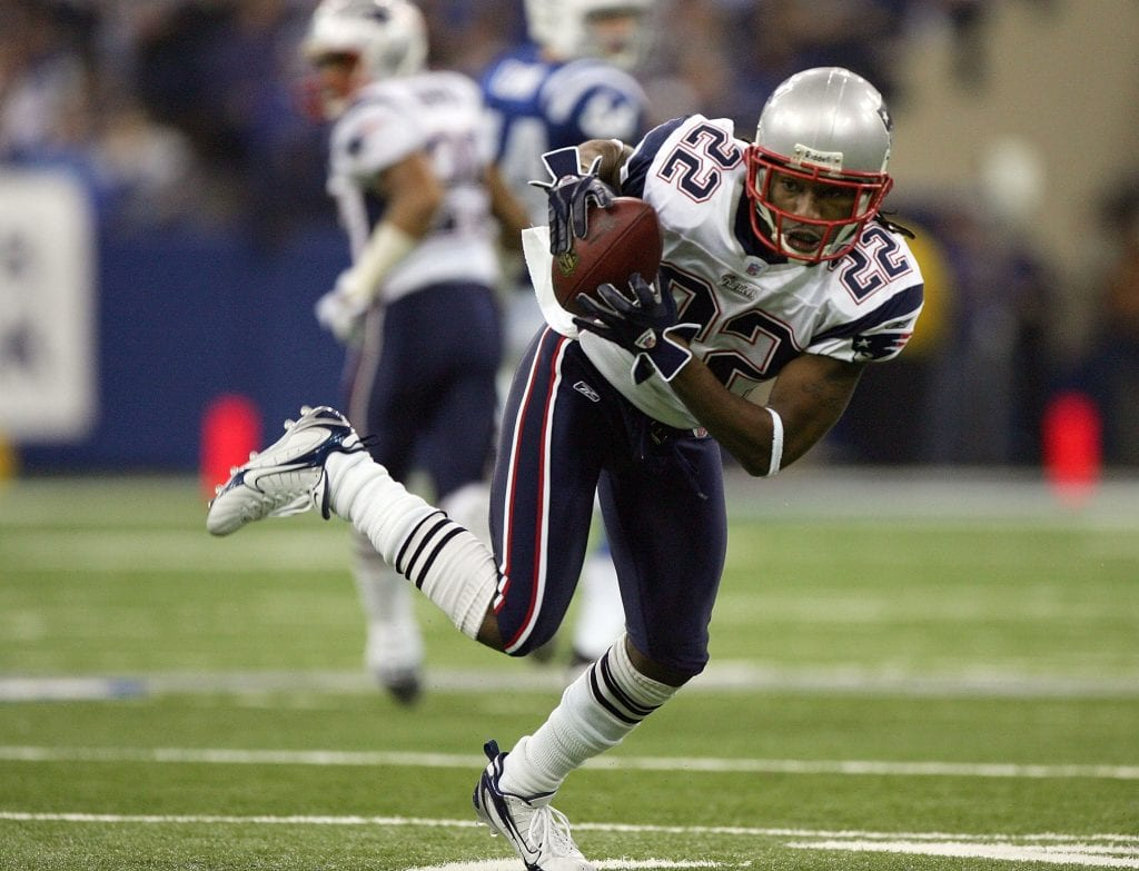 Asante Samuel #22 of the New England Patriots