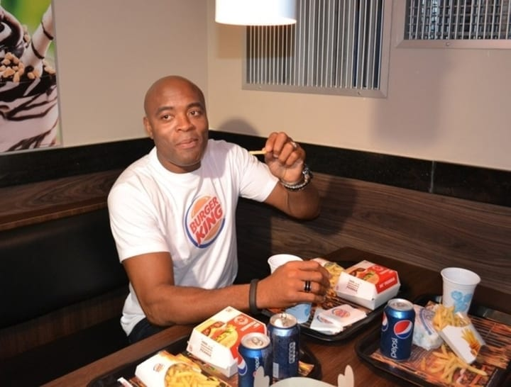 anderson silva burger king mcdonalds