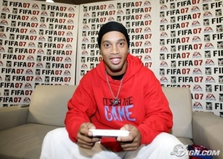fifa 07 ronaldinho video game