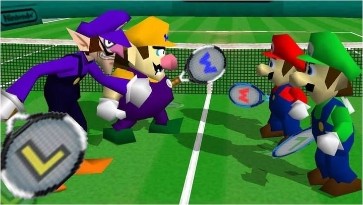 mario tennis video game