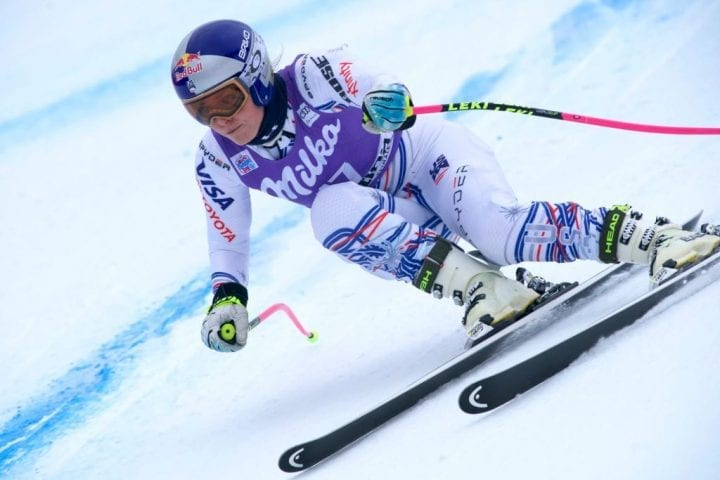 CORTINA D'AMPEZZO, ITALY - JANUARY 17 : Lindsey Vonn of USA in action during the Audi FIS Alpine Ski World Cup Women's Downhill Training on January 17, 2019 in Cortina d'Ampezzo Italy. (Photo by Francis Bompard/Agence Zoom/Getty Images)