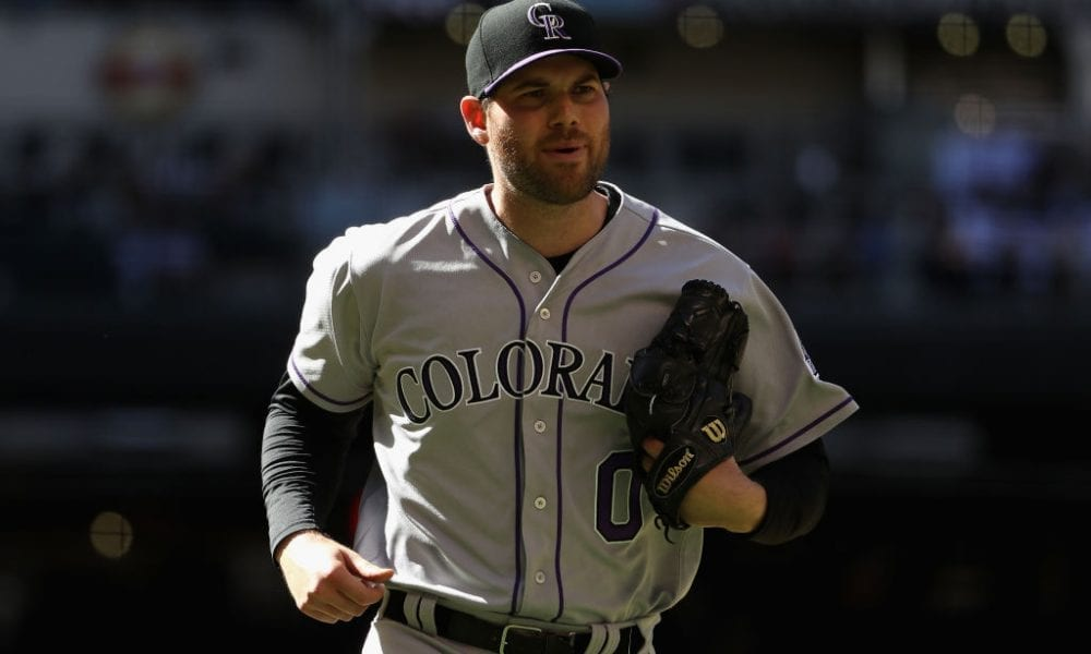 PHOENIX, AZ - APRIL 30: Relief pitcher Adam Ottavino #0 of the Colorado Rockies during the MLB game against the Arizona Diamondbacks at Chase Field on April 30, 2017 in Phoenix, Arizona. (Photo by Christian Petersen/Getty Images)
