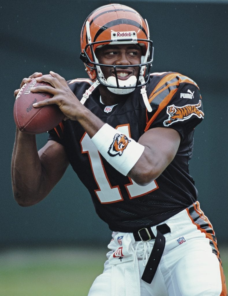 Quarterback for the Cincinnati Bengals during the American Football Conference Central game against the Cleveland Browns