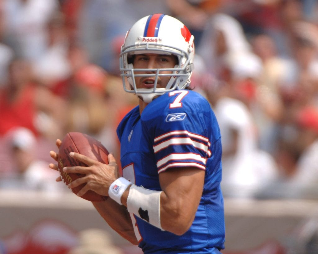 Buffalo Bills quarterback JP Losman sets to pass against the Tampa Bay Buccaneers
