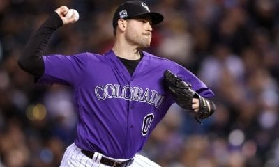 DENVER, CO - MAY 12: Pitcher Adam Ottavino #0 of the Colorado Rockies throws in the seventh inning against the Milwaukee Brewers at Coors Field on May 12, 2018 in Denver, Colorado. (Photo by Matthew Stockman/Getty Images)