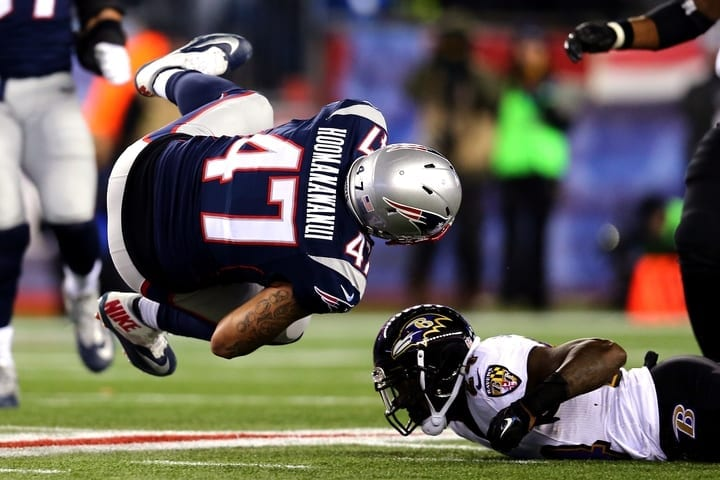 michael hoomanawanui patriots divisional round ineligible receiver