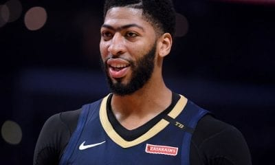 LOS ANGELES, CALIFORNIA - JANUARY 14: Anthony Davis #23 of the New Orleans Pelicans smiles during a 121-117 win over the LA Clippers at Staples Center on January 14, 2019 in Los Angeles, California. (Photo by Harry How/Getty Images)