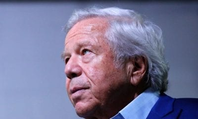 ATLANTA, GEORGIA - JANUARY 28: Owner Robert Kraft of the New England Patriots looks on during Super Bowl LIII Opening Night at State Farm Arena on January 28, 2019 in Atlanta, Georgia. (Photo by Kevin C. Cox/Getty Images)