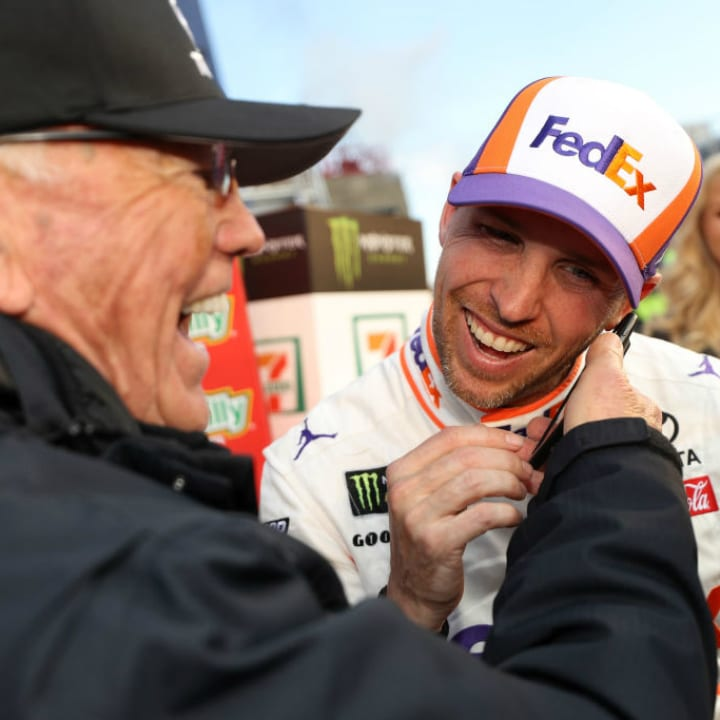 Joe Gibbs and Denny Hamlin