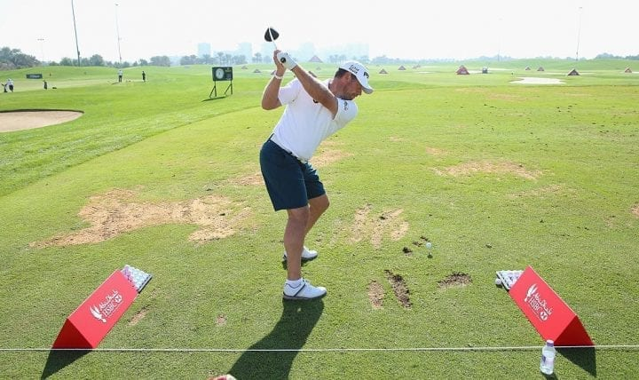 ABU DHABI, UNITED ARAB EMIRATES - JANUARY 19: Lee Westwood of England is pictured wearing shorts during practice prior to the start of the Abu Dhabi HSBC Golf Championship at the Abu Dhabi Golf Cub on January 19, 2016 in Abu Dhabi, United Arab Emirates. (Photo by Andrew Redington/Getty Images)
