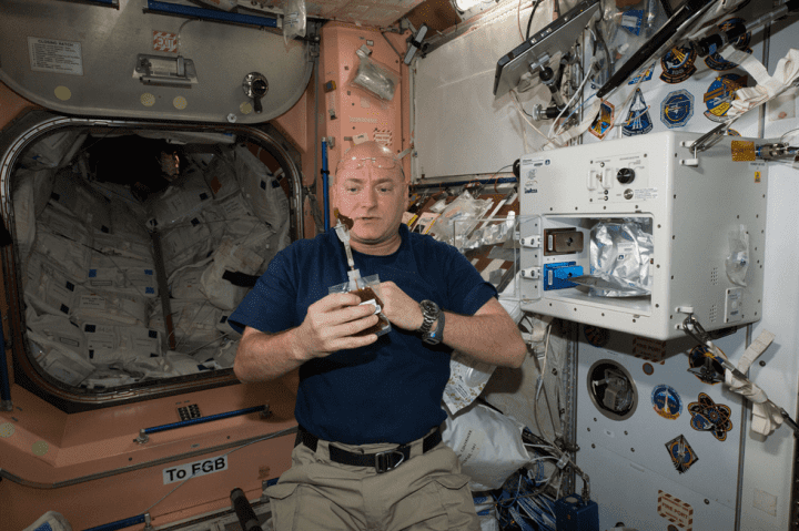 Astronaut coffee space station