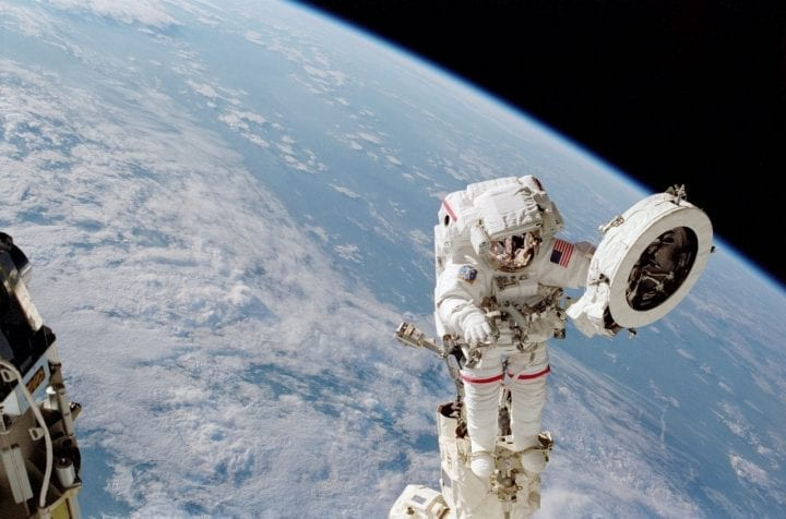 Astronaut spacewalk space