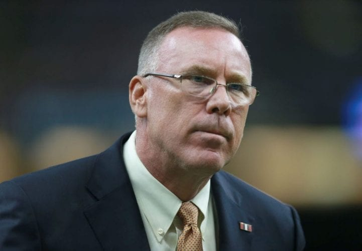 NEW ORLEANS, LA - SEPTEMBER 16: General Manager of the Cleveland Browns John Dorsey on the sidelines before the start of the game against the New Orleans Saints at Mercedes-Benz Superdome on September 16, 2018 in New Orleans, Louisiana. (Photo by Sean Gardner/Getty Images)