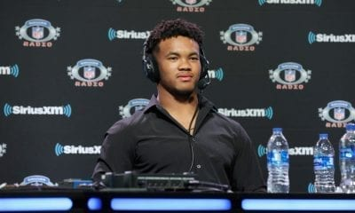 ATLANTA, GEORGIA - JANUARY 31: Kyler Murray attends SiriusXM at Super Bowl LIII Radio Row on January 31, 2019 in Atlanta, Georgia. (Photo by Cindy Ord/Getty Images for SiriusXM)