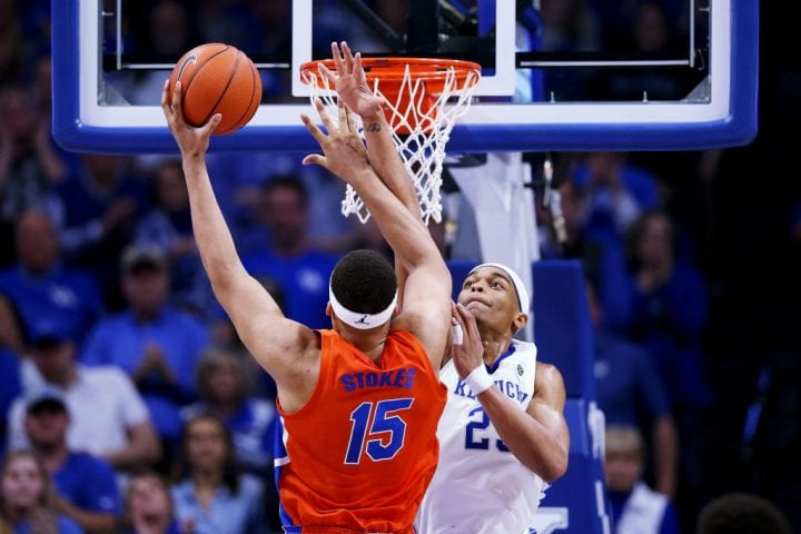 kentucky vs florida blocked shot