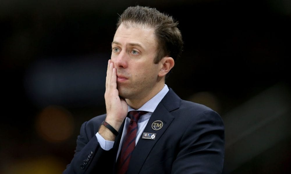 CHICAGO, ILLINOIS - MARCH 16: Head coach Richard Pitino of the Minnesota Golden Gophers looks on in the second half against the Michigan Wolverines during the semifinals of the Big Ten Basketball Tournament at the United Center on March 16, 2019 in Chicago, Illinois. (Photo by Dylan Buell/Getty Images)