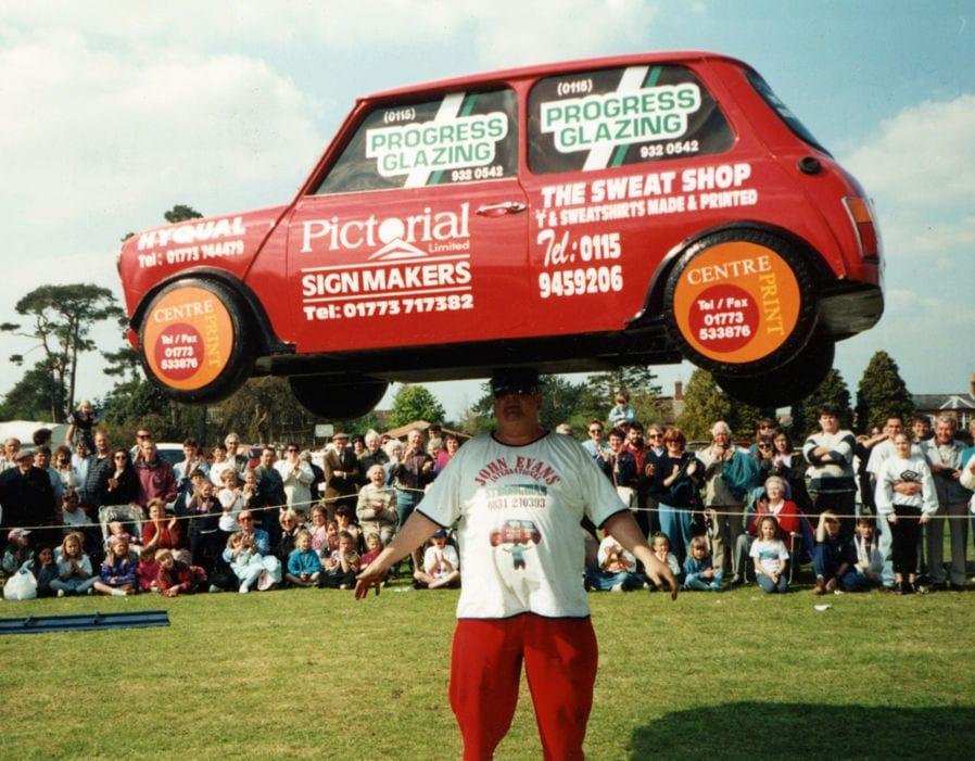 balancing a car on a head world record